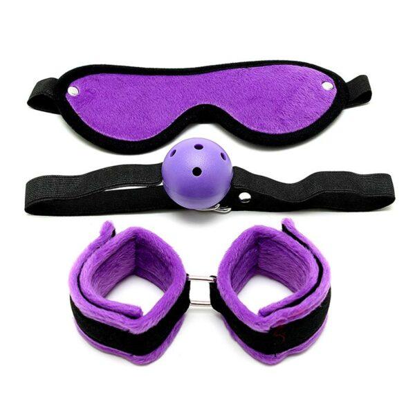 rimba bondage 3 piezas purpura